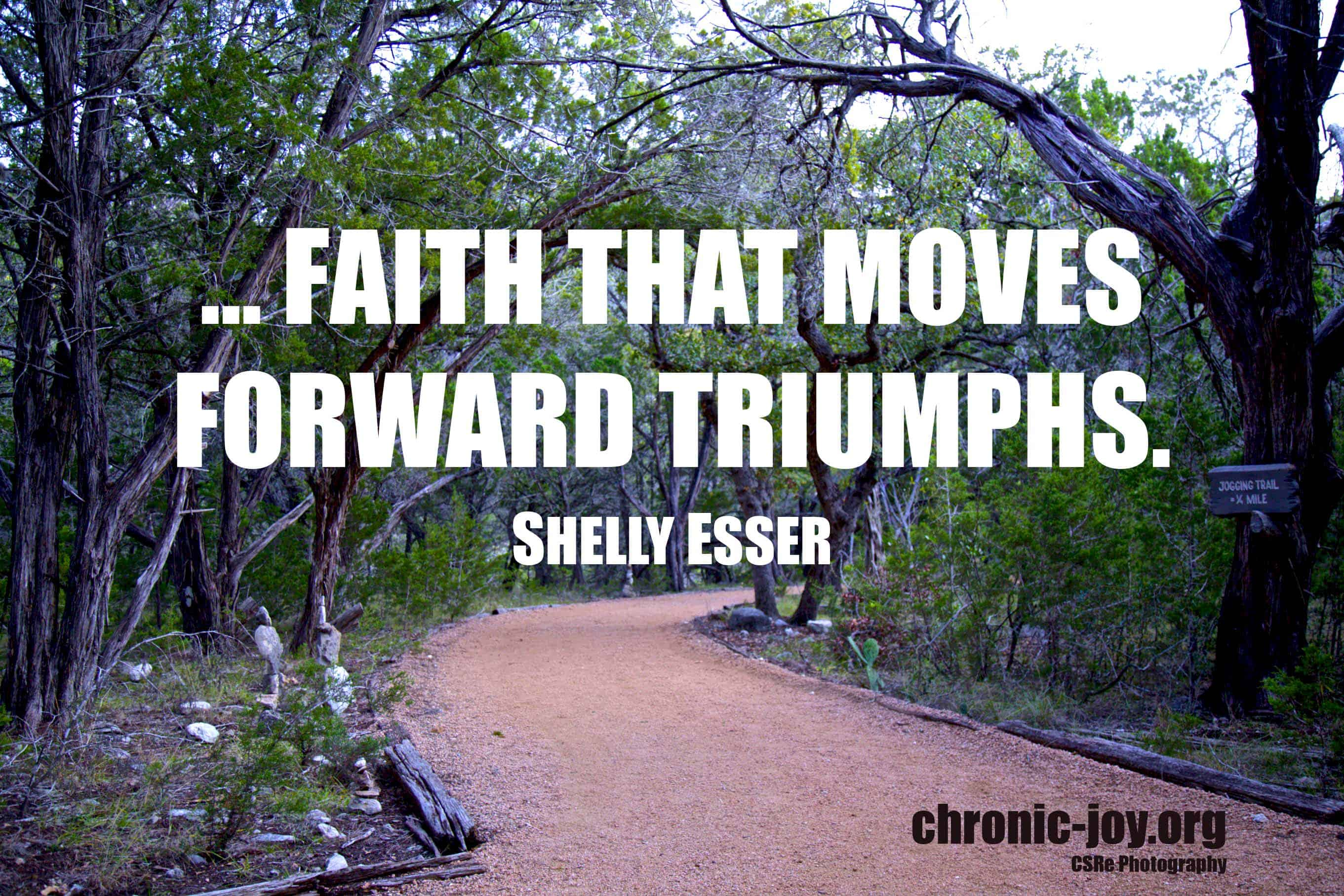 """Living Unoffended Even When Healing Doesn't Come • """"...faith that moves forward triumphs."""" Shelly Esser"""