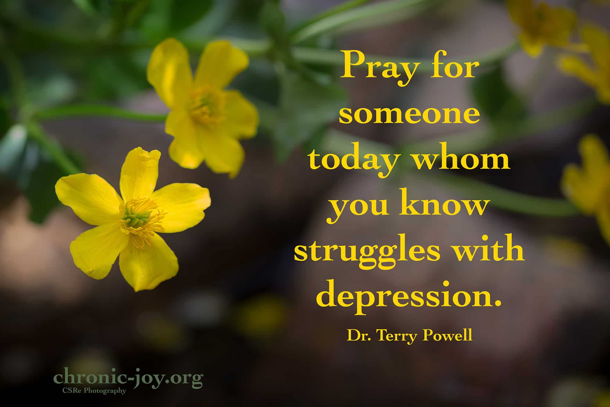 Pray for someone.