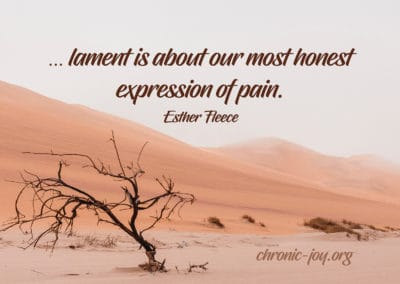 Lament is an honest expression of pain.