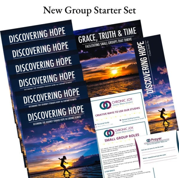 Sharing life and discovering hope as a small group opens the door to life in community. This package includes: 6 copies of Discovering Hope, the first book in the Chronic Joy Thrive series, 1 copy of Grace, Truth, & Time: Facilitating Small Groups that Thrive, and additional tools to help get your new group off to a great start.