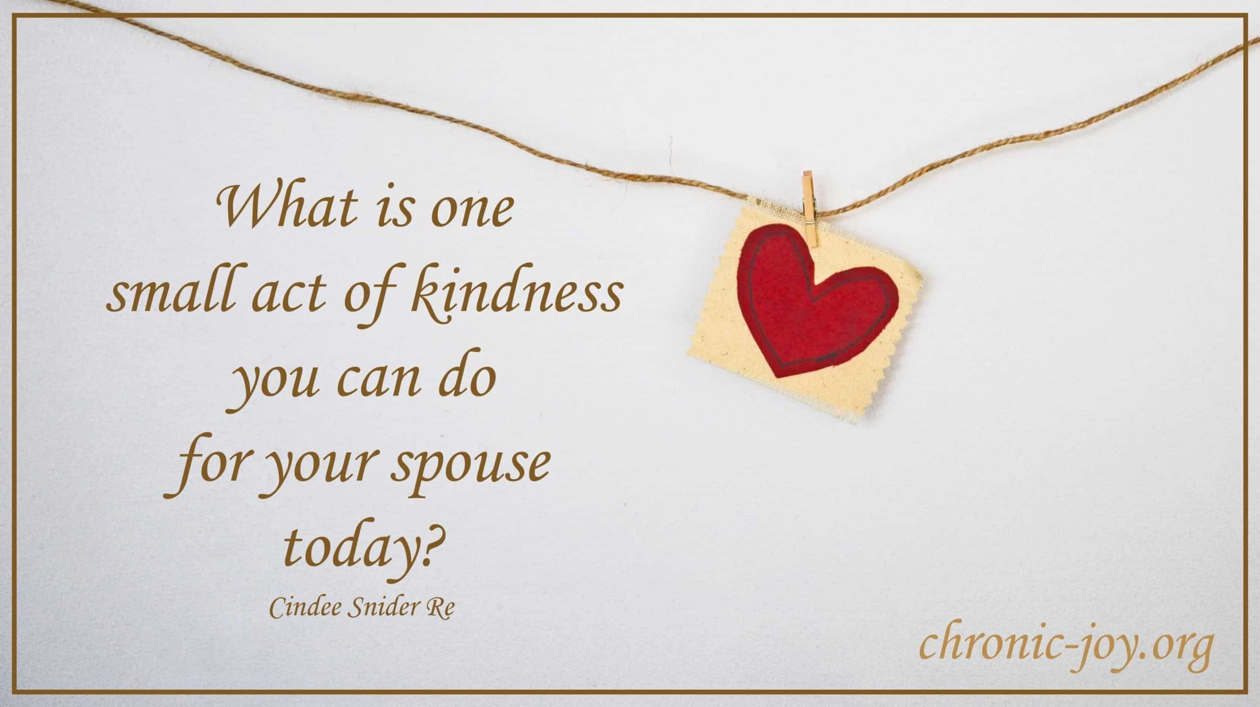 What is one act of kindness...