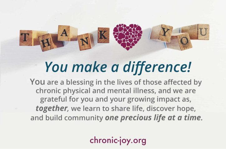 Thank you. You make a difference!