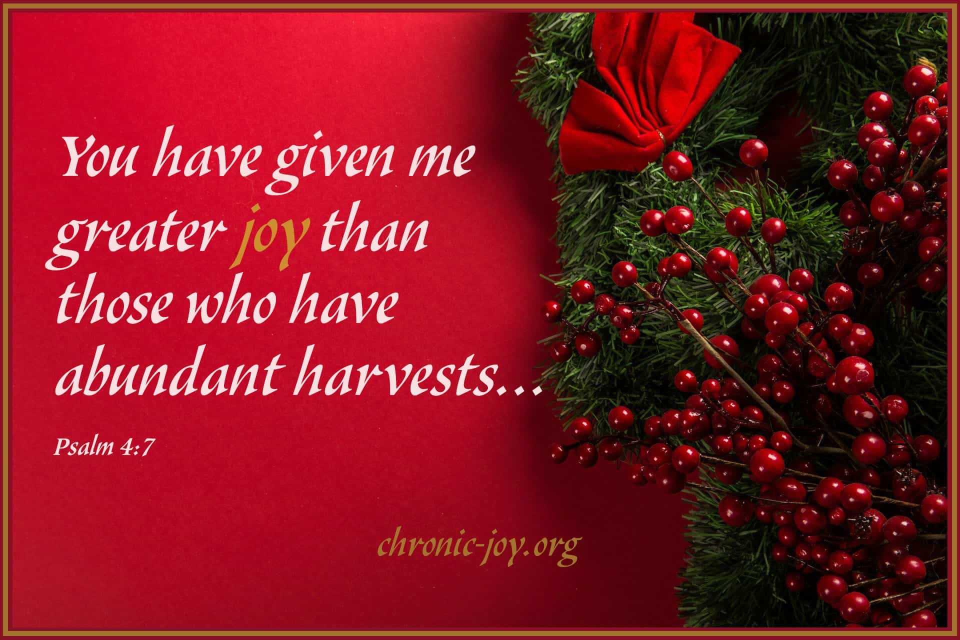 You have given me greater joy...