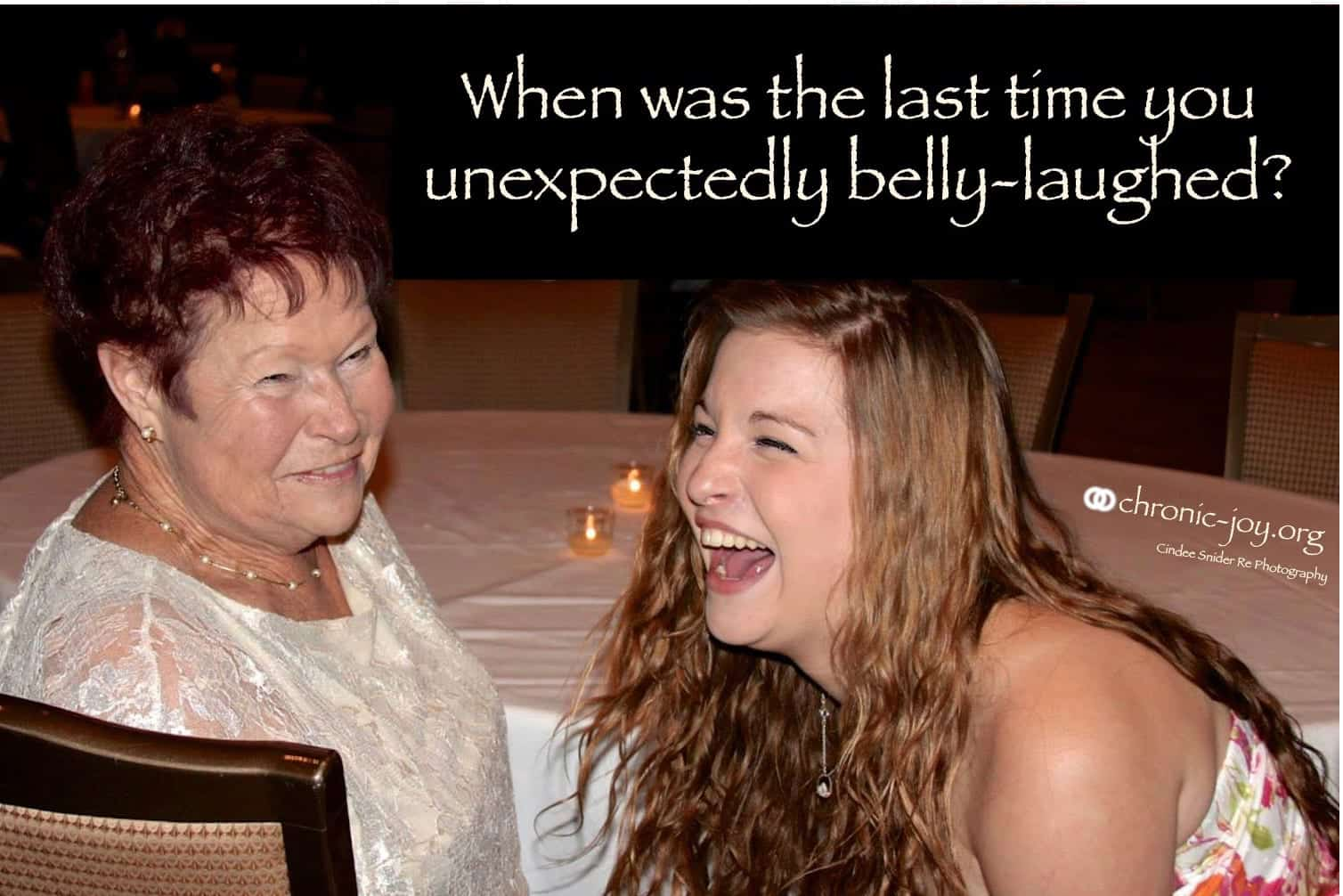 When was the last time you laughed?
