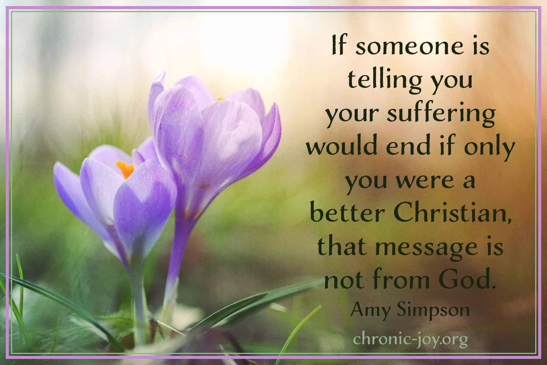 Belief in Christ doesn't mean we won't suffer