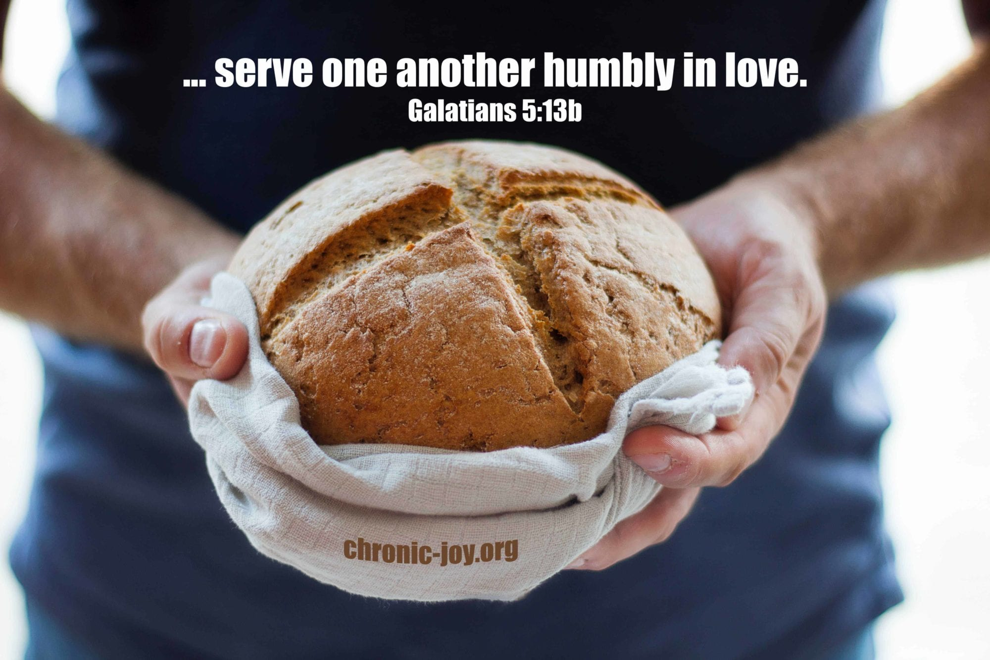 Serve one another humbly in love.