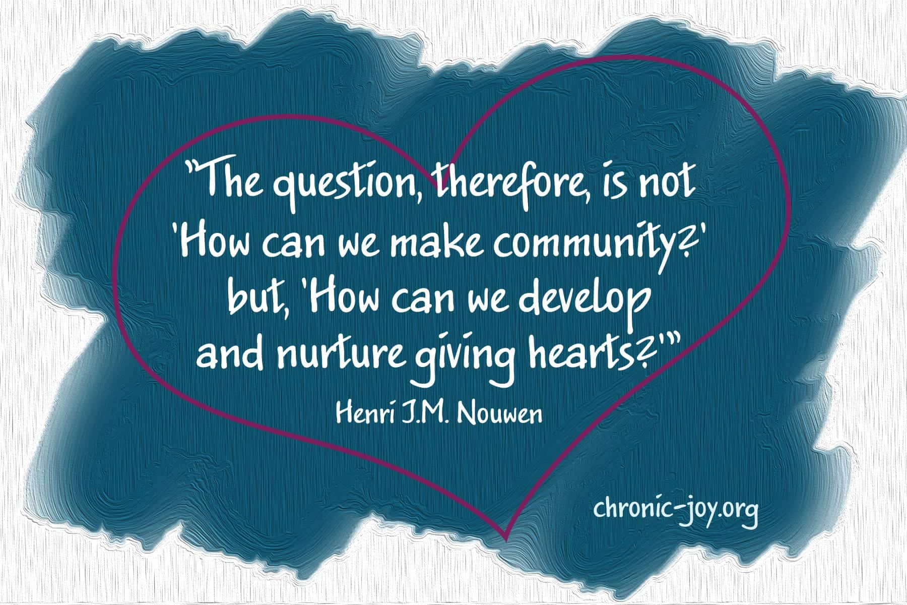 Nurturing Giving Hearts • Vital Programs for YOU!