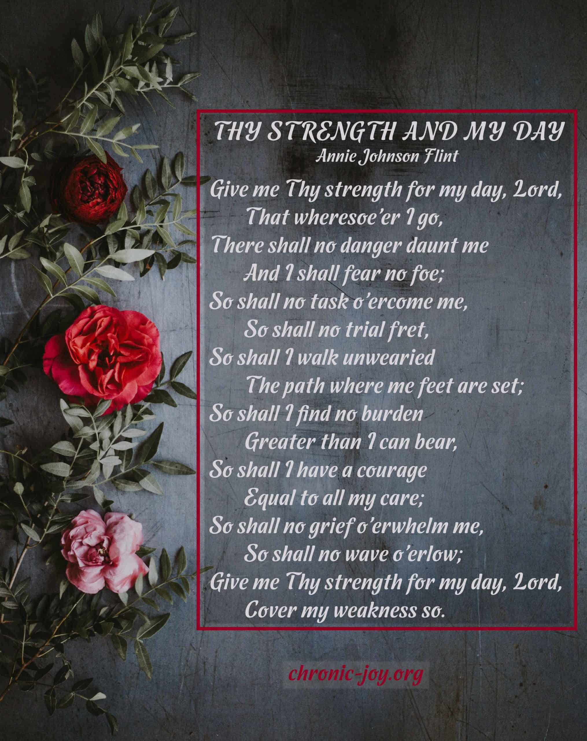 Thy Strength and Thy Day