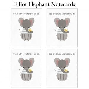 Elliot Elephant Notecards
