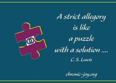 A strict allegory is like a puzzle with a solution.