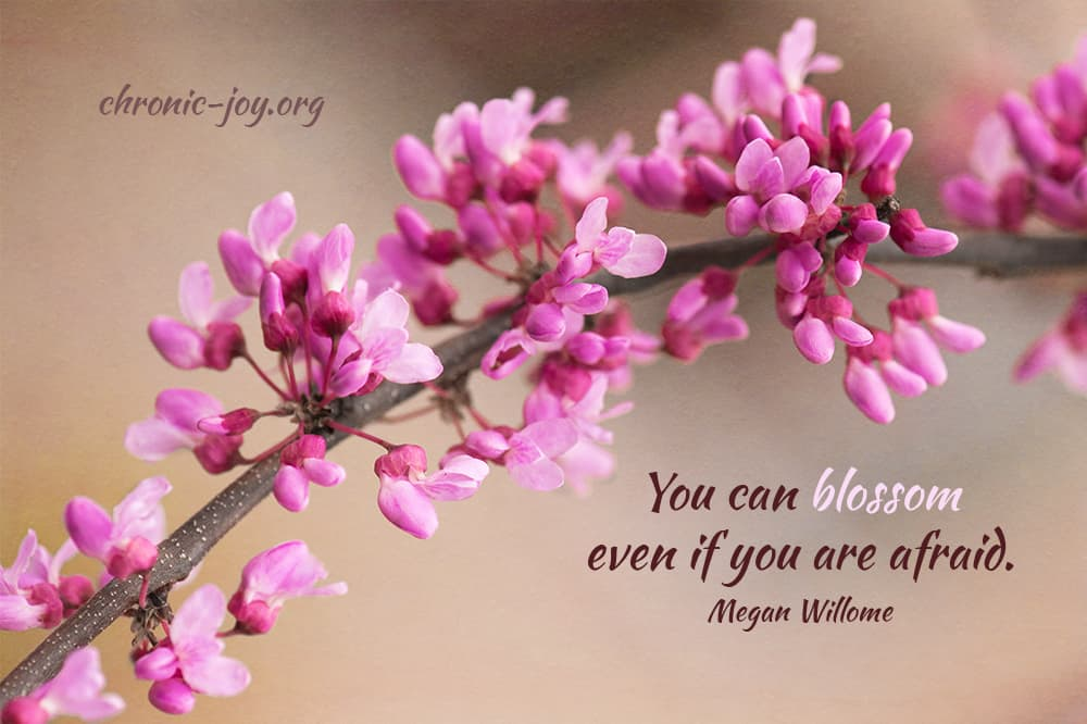 """You can blossom even if you are afraid."" Megan Willome"