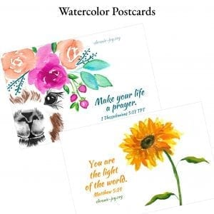 Watercolor Postcards