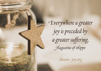Everywhere a greater joy is preceded by a greater suffering.