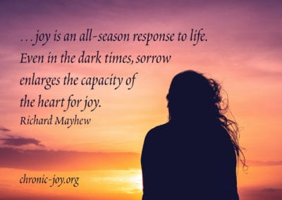 ...joy is am all-season response to life.