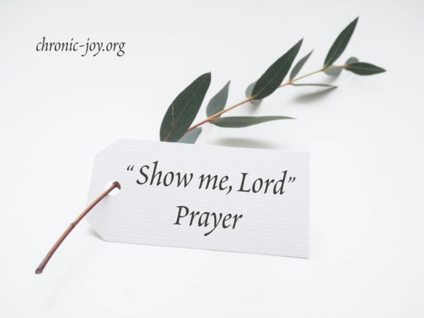 Show Me, Lord • Prayer