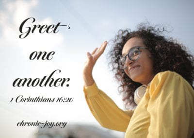 Greet one another.