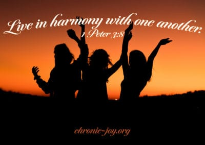Live in harmony with one another.