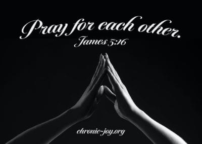 Pray for each other.