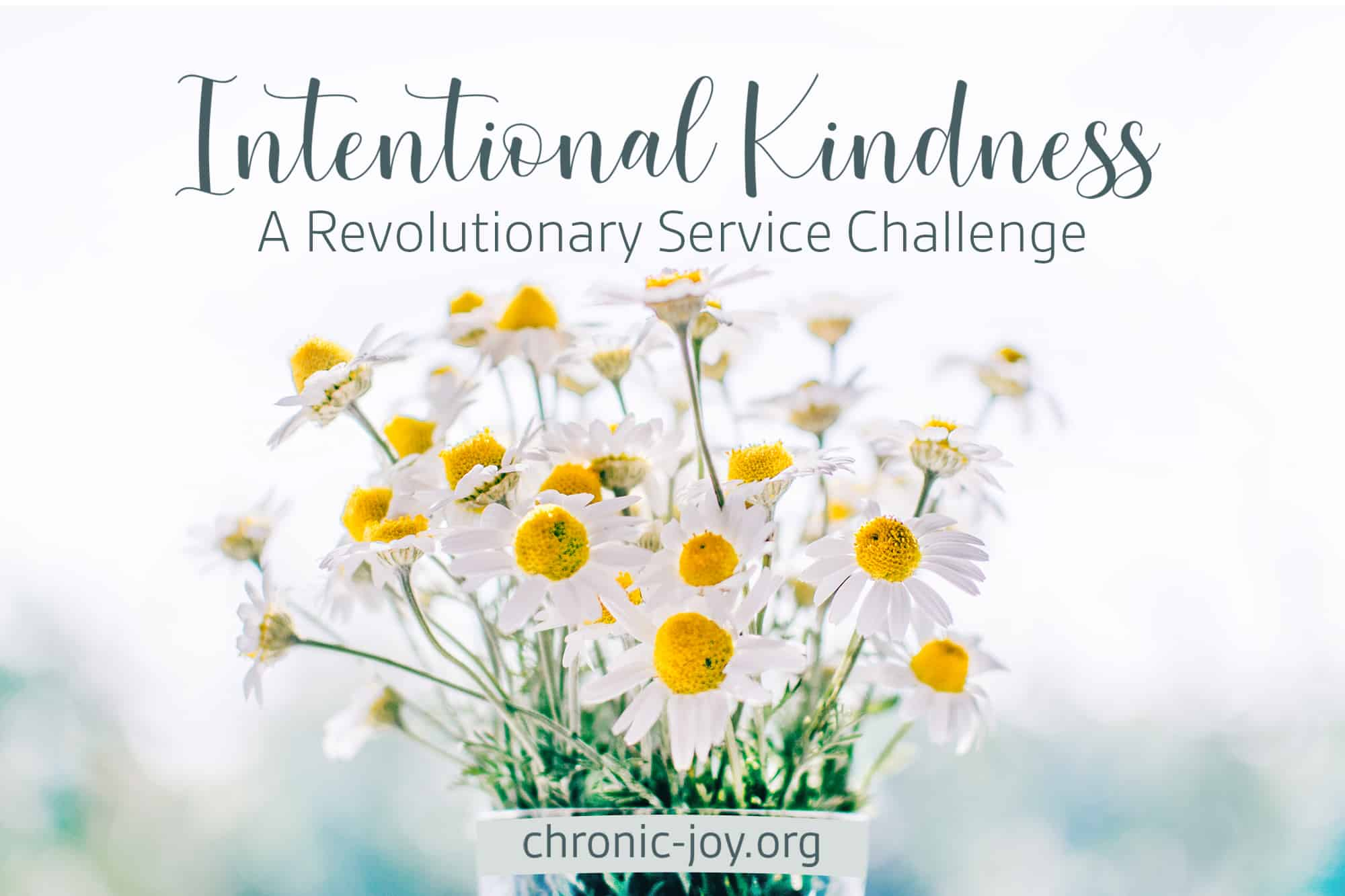 INTENTIONAL KINDNESS, A REVOLUTIONARY SERVICE CHALLENGE