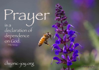 """""""Prayer is a declaration of dependence on God."""" Philip Yancey"""