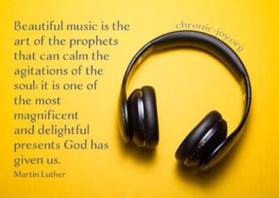 """Beautiful music is the art of the prophets that can calm the agitations of the soul; it is the most magnificent and delightful presents God has given us."" Martin Luther"