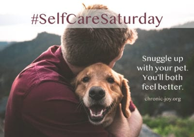 Snuggle up with your pet. You'll both feel better.