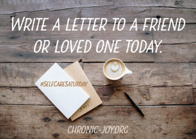Write a letter to a friend or loved one today.