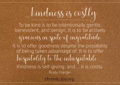 Kindness is costly