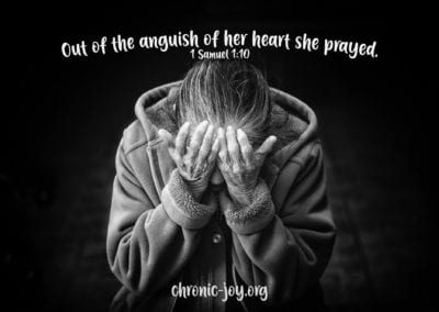 """Out of the anguish of her heart she prayed."""" 1 Samuel 1:10"""