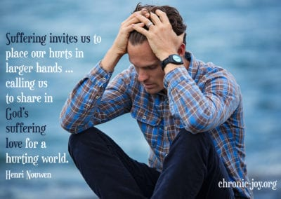 Suffering invites us to place our hurts in larger hands ...