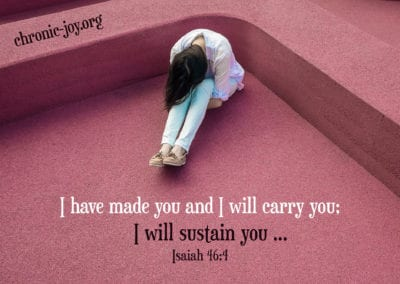 I have made you and I will carry you; I will sustain you …