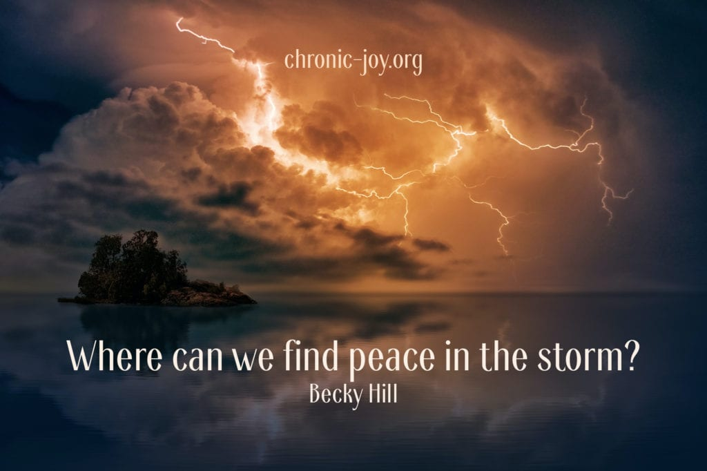 """Where can we find peace in the storm?"" Becky Hill"
