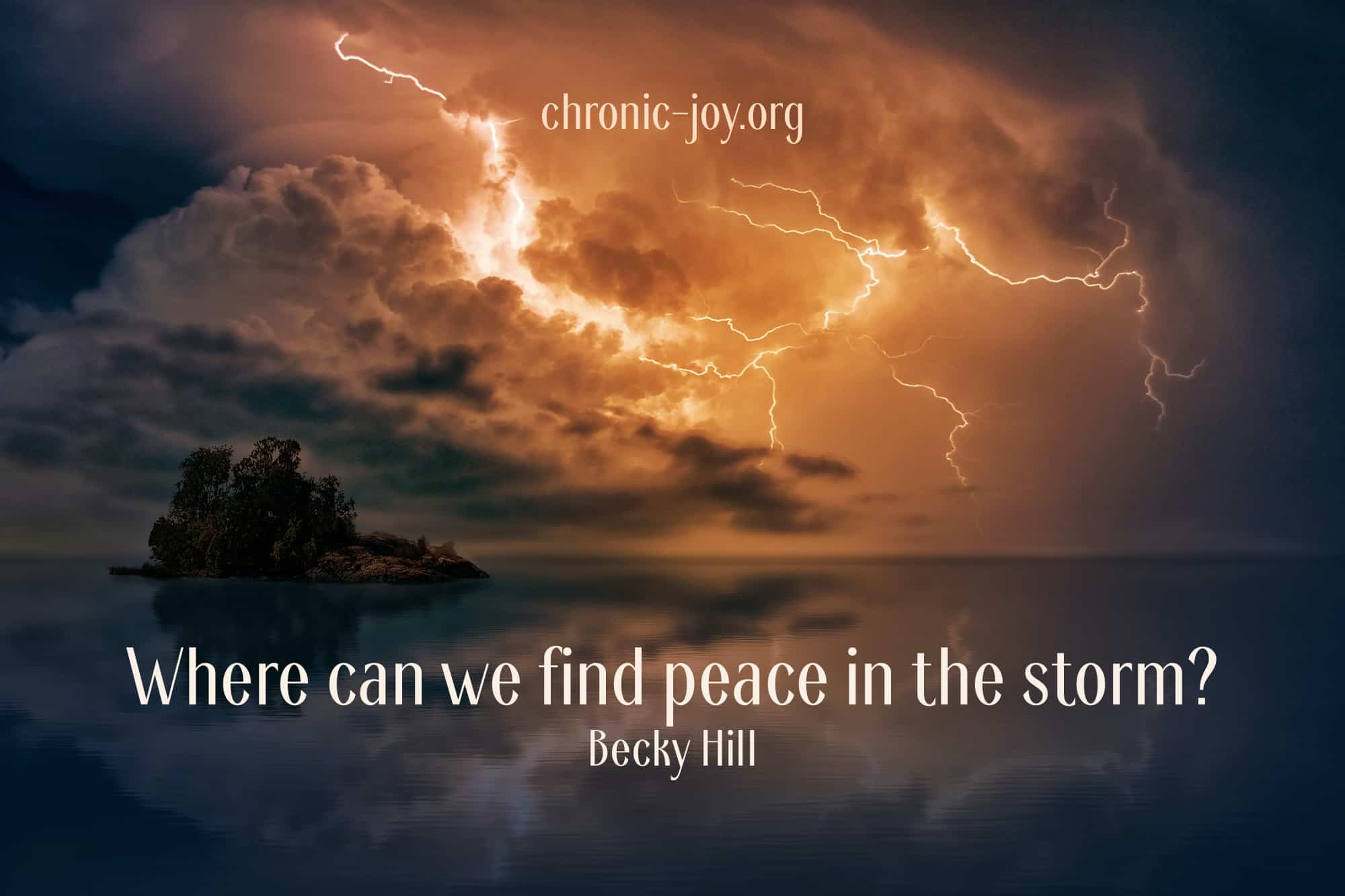 Peace in the Storm • How Do I Find It?