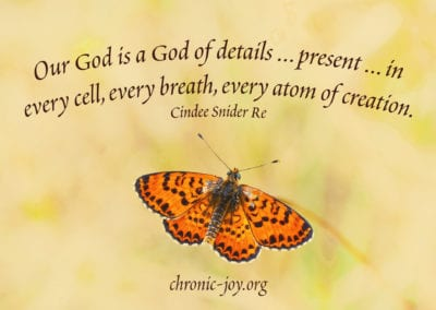 Our God is a God of details who is present everywhere - in every cell, every breath, and every atom of creation.
