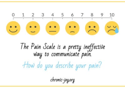 The Pain Scale is a pretty ineffective way to communicate pain. How do you describe your pain?