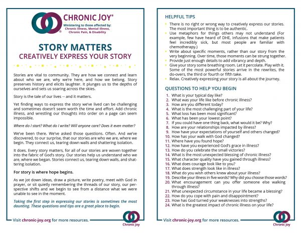 Story Matters • Creatively Express Your Story