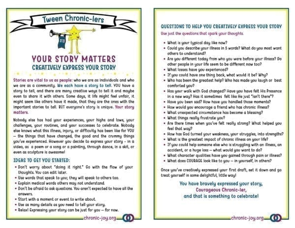 Tweens • Your Story Matters • Creatively Express Your Story