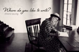 Where do you like to write? A Poetry Prompt by Megan Willome