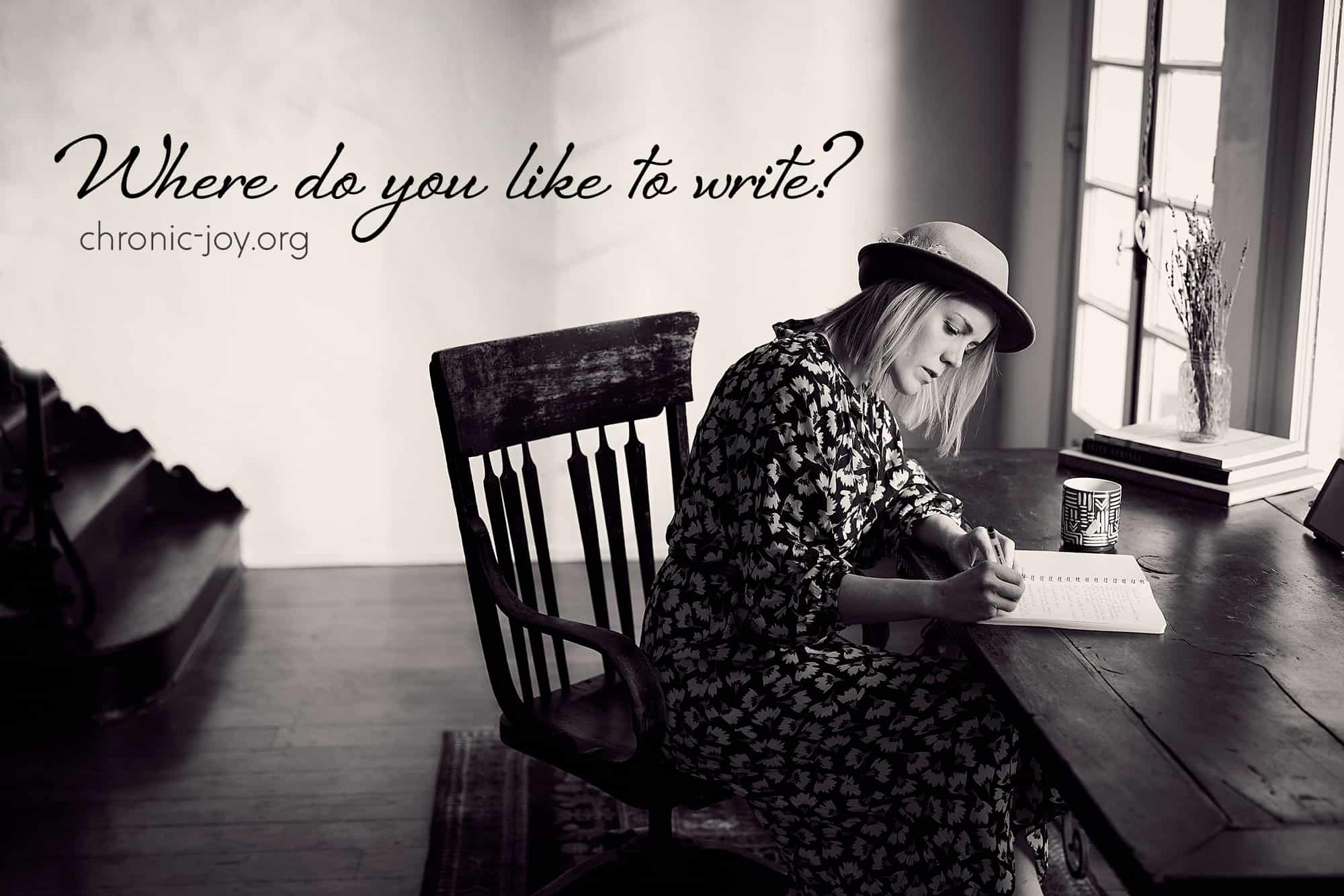 Where Do You Like to Write? • Poetry Prompt