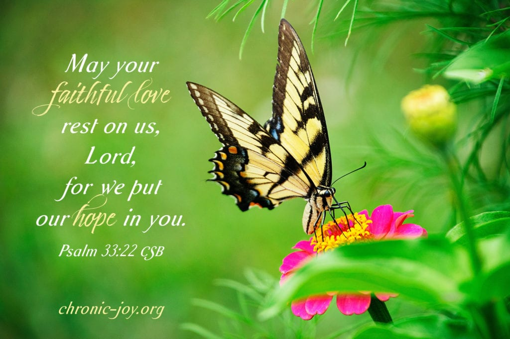 """""""May your faithful love rest on us, Lord, for we put our hope in you."""" Psalm 33:22 CSB"""