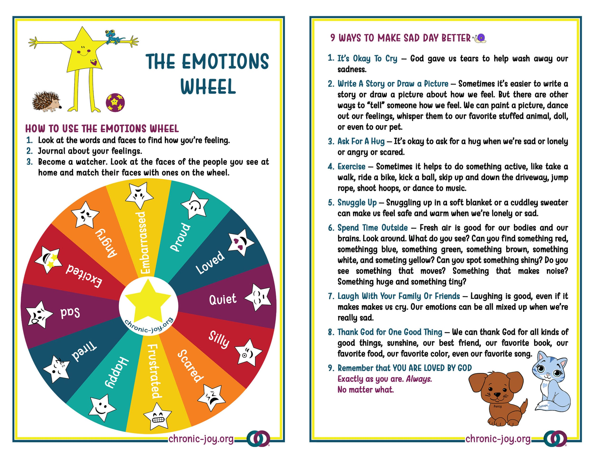 Emotions Wheel and Guide • Children