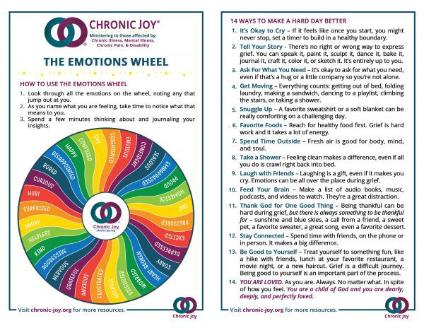 Emotions Wheel and Guide • Teens