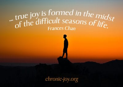 """""""… true joy is formed in the midst of the difficult seasons of life."""" Frances Chan"""