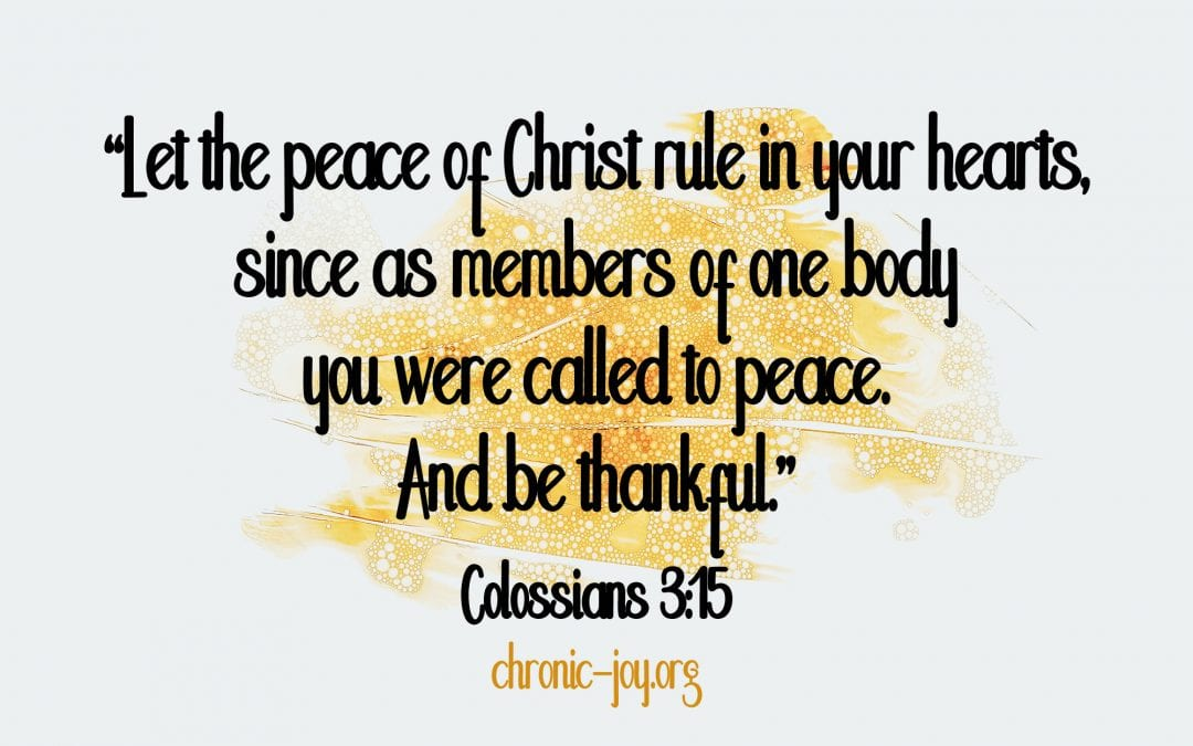 Letting God's Peace Rule Our Hearts