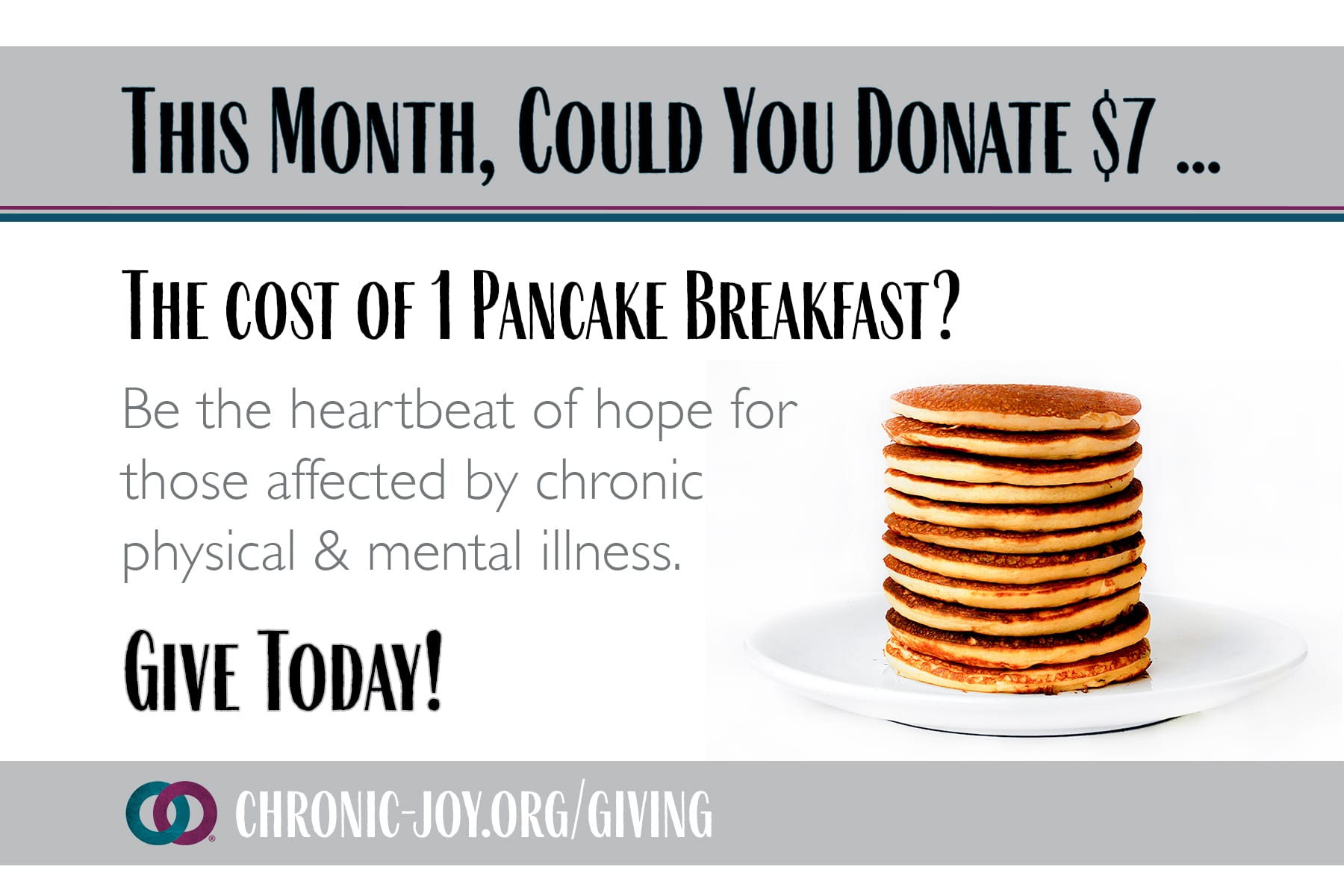 This month, could you donate $6 ... The Cost of 1 Pint of Blueberries?
