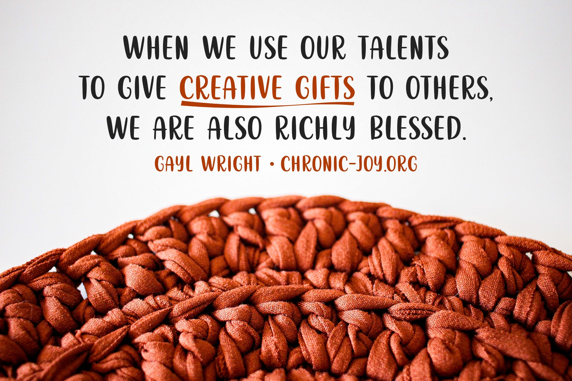 Creative Gifts: Using Our Talents to Serve Others