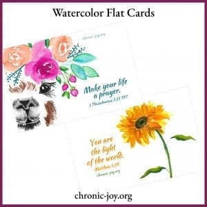 Watercolor Flat Cards
