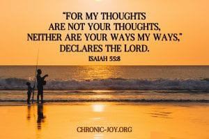 """""""For my thoughtsare not your thoughts, neither are your ways my ways,"""" declares the Lord.Isaiah 55:8"""