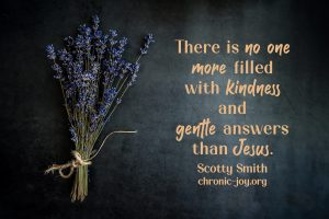 """""""There is no one more filled with kindness and gentle answers than Jesus."""" Scotty Smith"""