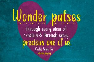 """""""Wonder pulses through every atom of creation & through every precious one of us."""" Cindee Snider Re"""